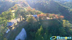 九州大分 岡城の紅葉情報 2017 本丸 二の丸 三の丸の紅葉 ドローン撮影(写真)20171031
