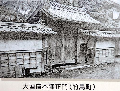 大垣城の紹介12    大垣宿と天守最上階からの眺め
