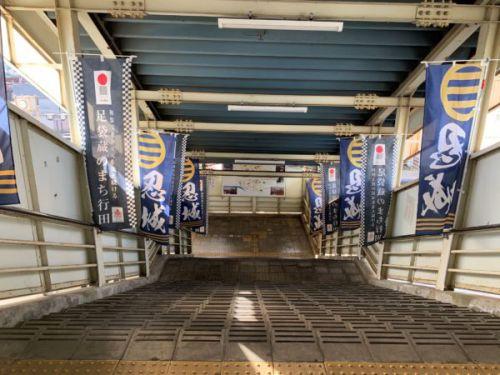 忍城への道行き。