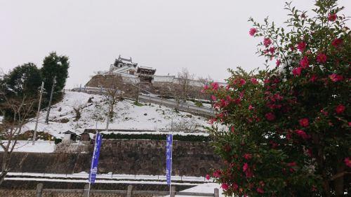 雪の福知山城