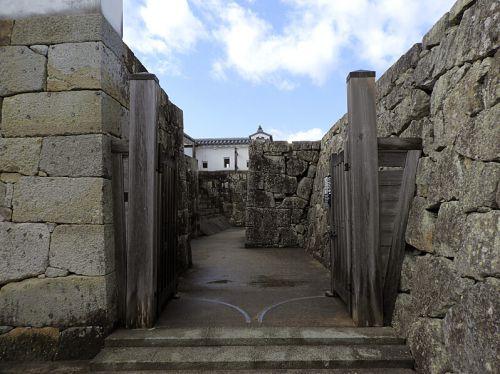 津山城(日本100名城) 13 五番門から多聞櫓跡